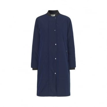 Technica Long Jacket in Navy
