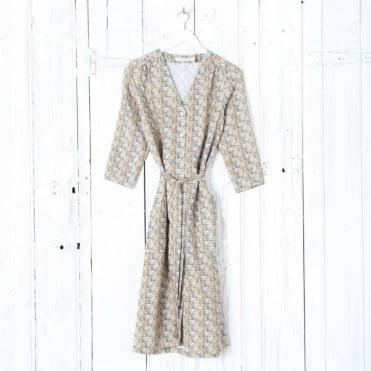 Marie Patterned Tie Waist Dress