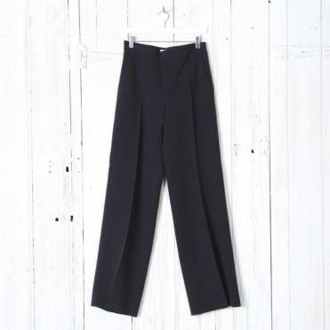 Haway Wide Leg Pinstripe Trouser