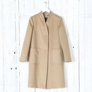 Anselmo Short Coat in Camel
