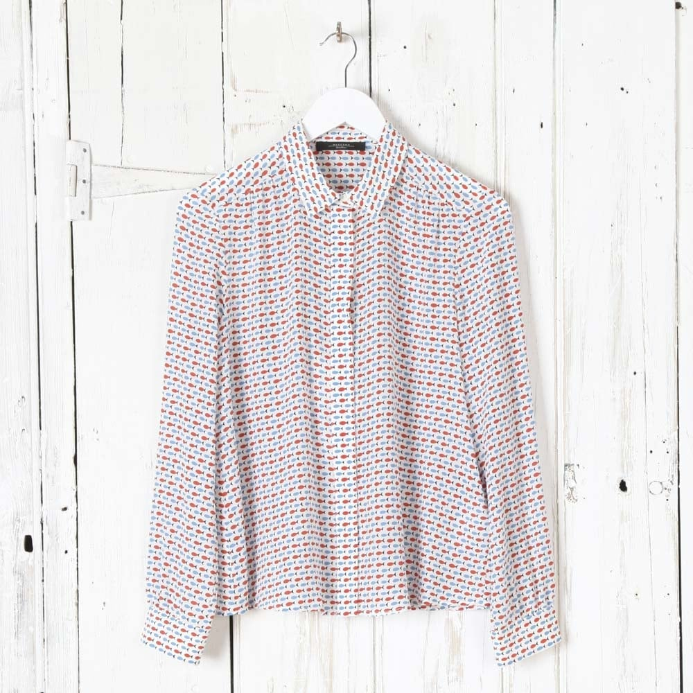 Buy weekend max mara canore fish print shirt collen clare for Fish print shirt