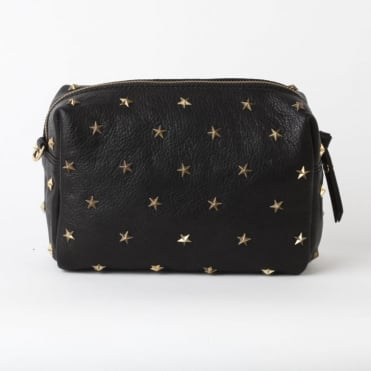 Dixie Studded Crossbody Bag in Black