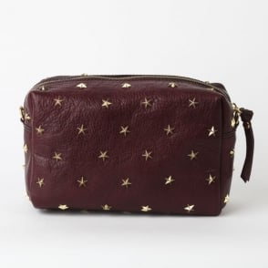 Dixie Studded Crossbody Bag in Burgundy