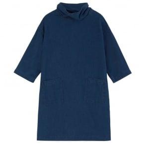 Westbourne Denim Dress with Pockets in Blue