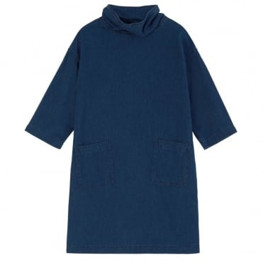 Westbourne Denim Dress with Pockets in Blue
