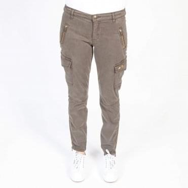 Gilles Embellished Cargo Pant in Army