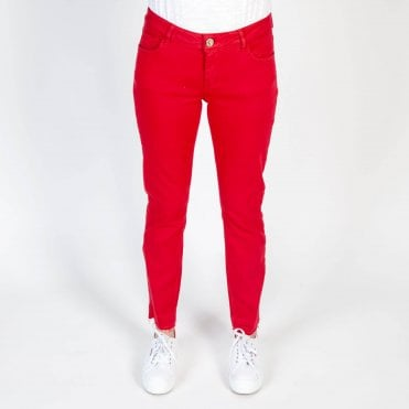 Summer Super Stretch Skinny Jean in Red