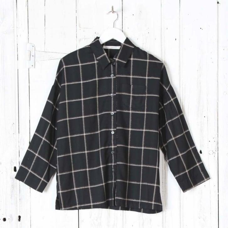 Nana Lurex Windowpane Check Shirt