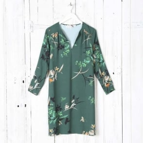 Nuria Japanese Flower Print Dress