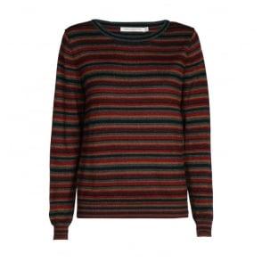 Lexi Multi Lurex Stripe Roundneck Knit