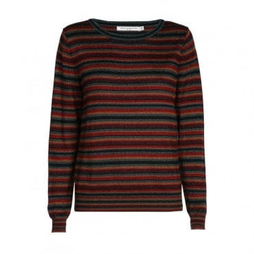 Lexi Multi Lurex Stripe Roundneck Knit