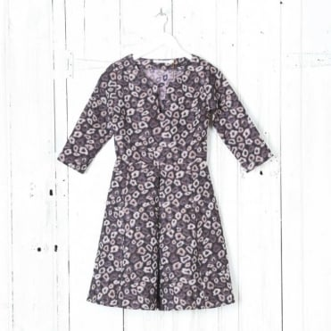 Lorna Flower Printed Fit & Flare Dress