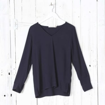 Nancy Crepe Viscose V Neck Top