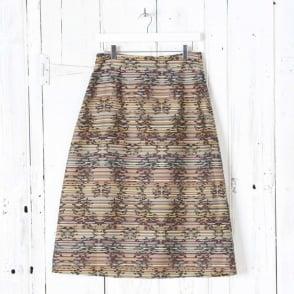 Neela Stripe Jacquard Skirt