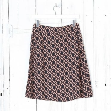 Geo Print Skirt with Pockets