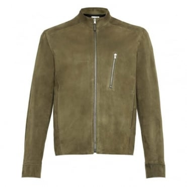Suede Simple Biker Jacket