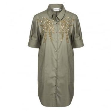 Nika Sequin Shirt Dress