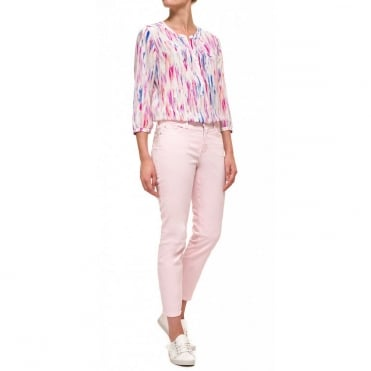 Alina Ankle Jean in Pink