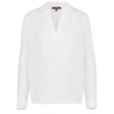 8f15f02d40c55 Linen Popover Shirt in White