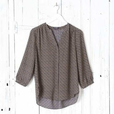 Pintuck Blouse in Restoratio