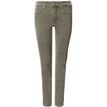 Sheri Slim Ankle Jean in Khaki