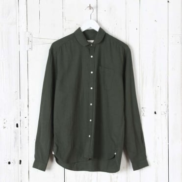 Eton Collar Shirt in Green