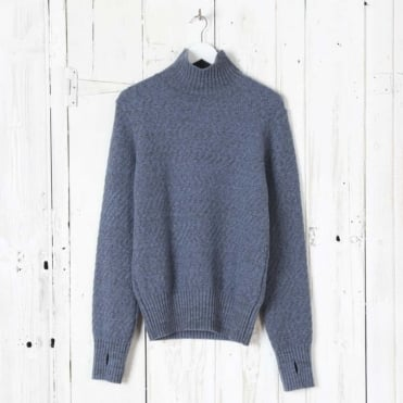 Talbot Roll Neck in Sky Blue