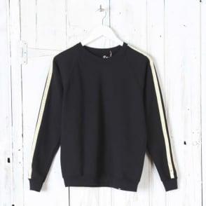 Lurex Stripe Sweat in Black/Gold