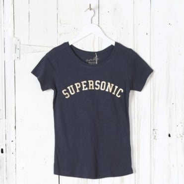 Supersonic Gold Logo T-Shirt in Navy