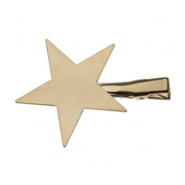 Clean Metal Star Hair Clip