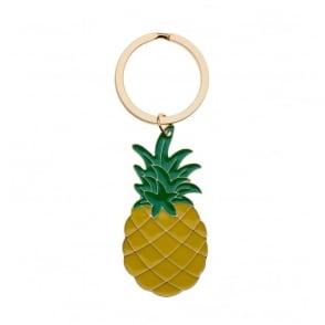 Enamel Pineapple Keyring