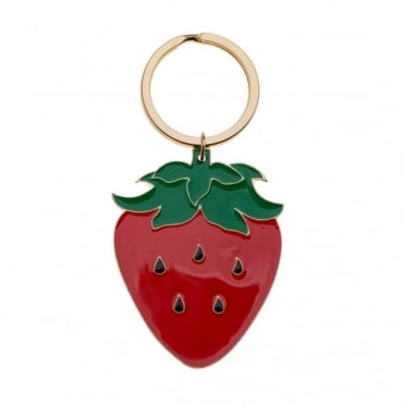 Enamel Strawberry Keyring