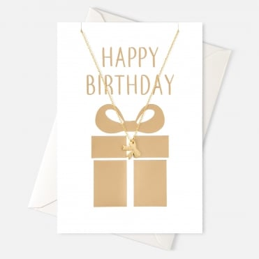 Happy Birthday Bow Gift Card