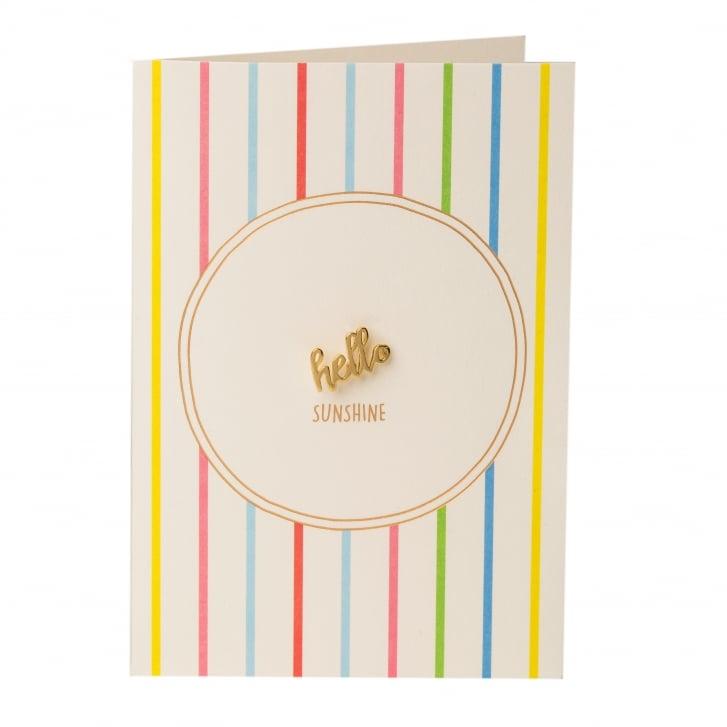 ORELIA Hello Sunshine Pin Badge Gift Card