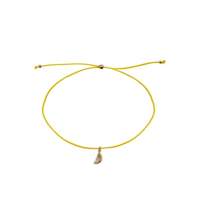 ORELIA Lemon Charm Friendship Bracelet