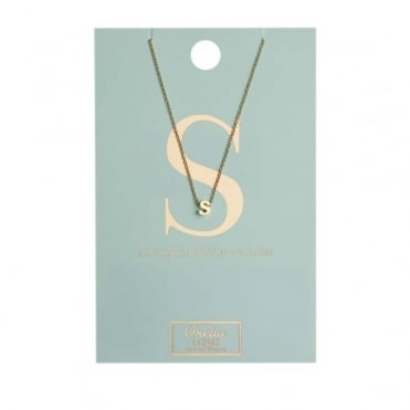 S Initial Gold Plated Necklace