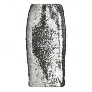 Sequin Skirt in Silver/Gold