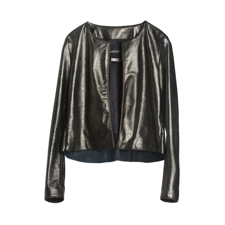OTTO DAME Short Leather Jacket in Bronze