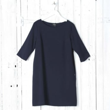 Simple Classic Tunic Dress in Navy