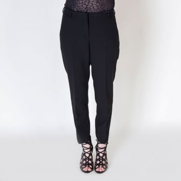 Slim Ankle Cropped Trouser in Black