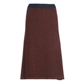 Wool Aga Skirt in Rust