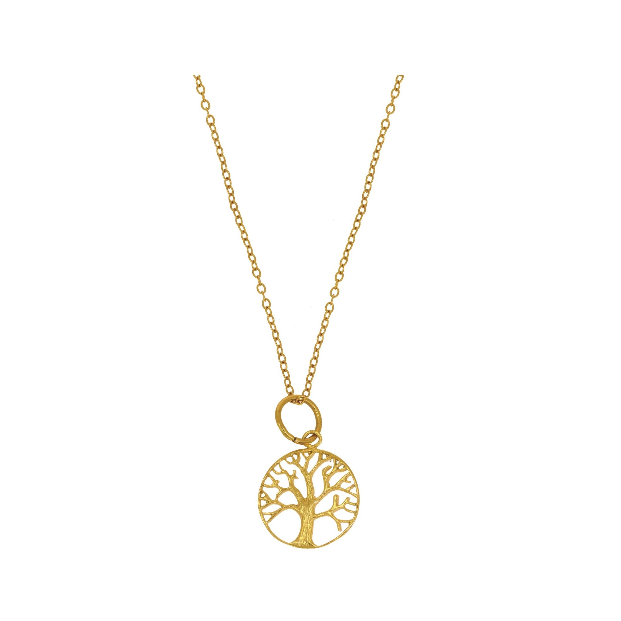 Ottoman Hands Tree Of Life Pendant Necklace In Gold Collen Clare