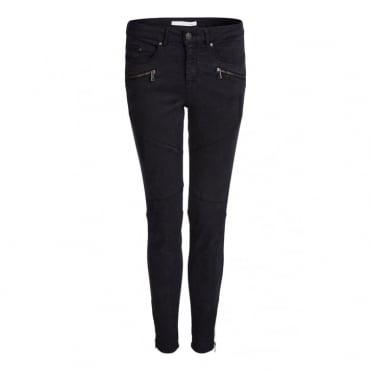 Casual Zip Pocket Pants in Black