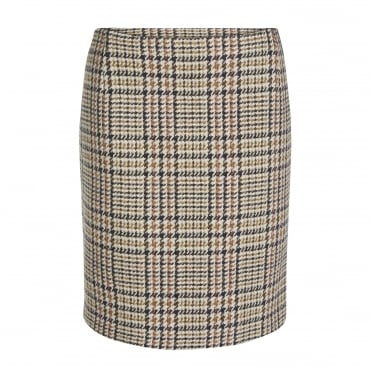 Dogtooth Skirt in Light Stone Brown