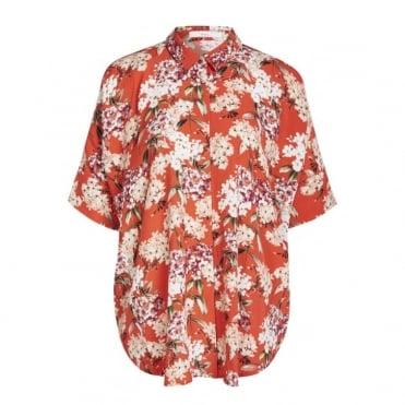 Hydrangea Print Shirt