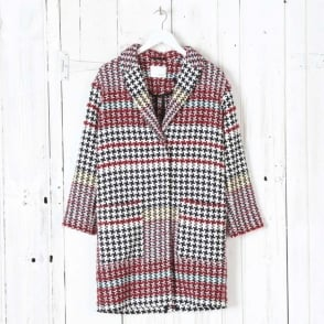 Multi Coloured Dogtooth Coat