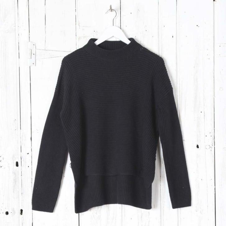 OUI Ribbed Pullover in Dark Navy