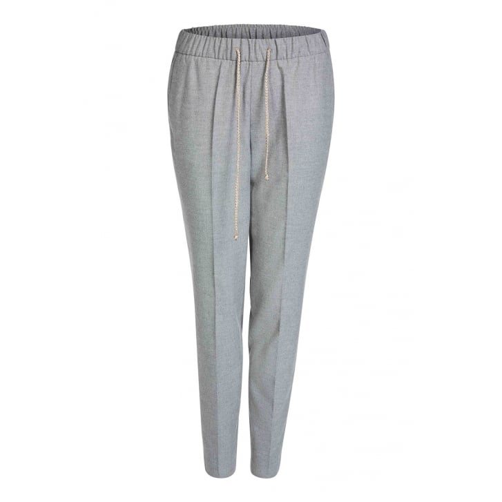 OUI Smart Elasticated Waist Trousers in Grey