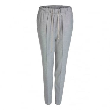 Smart Elasticated Waist Trousers in Grey