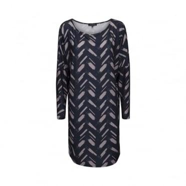 Oversized Patterned Dress